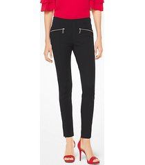 mk leggings hutton in misto cotone - nero (nero) - michael kors