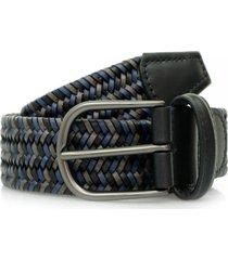 anderson's belts woven braided leather belt | navy/black | af2817/31