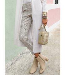 enkellange broek met steekzakken voor van laura biagiotti roma multicolour
