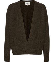 brook knit cardigan stickad tröja cardigan brun second female