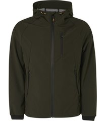 no excess 11630207 jacket mid long hooded stretch 152 moss no-excess