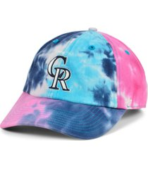 '47 brand women's colorado rockies tie dye adjustable cap