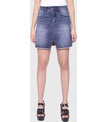 falda ellus azul - calce regular