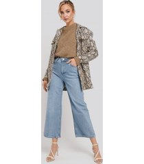 trendyol high waist culotte jeans - blue