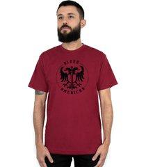 camiseta bleed american sword of wisdom vinho - vinho - masculino - dafiti