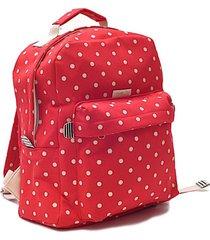 mochila roja matriona lunares