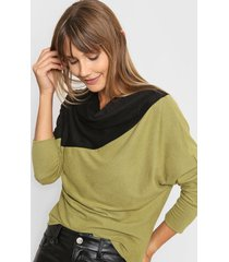 sweater verde destino collection bicolor