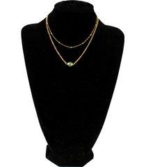collana multistrato di moda collana con ciondolo in strass colorato con catena in oro gioielli dolci per le donne