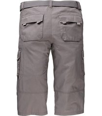 shorts & skärp men plus grå