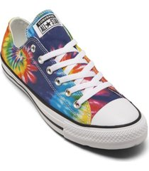 converse men's chuck taylor all star tie-dye low top casual sneakers from finish line