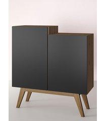 aparador buffet/bar modern preto estilare móveis