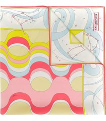 emilio pucci copacabana print silk-twill square scarf - neutrals