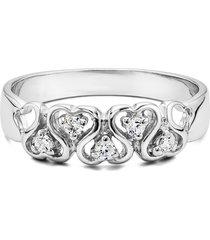 0.10 ct round cut white diamond 925 silver engagement ring 18k white gold fn