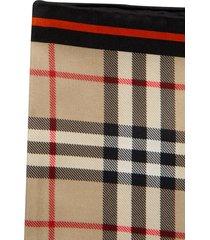 burberry logo motif fringe edge scarf