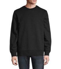 y-3 men's embroidered stretch-cotton sweatshirt - black - size xl