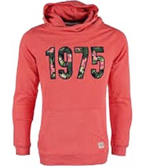 jack & jones slim sweater hoodie spiced coral