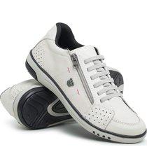 kit com dois sapatênis masculino sandiee ziper elastico branco preto