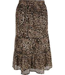 kjol miamoda brun::svart