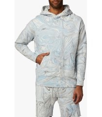 men's marble dye french terry hoodie
