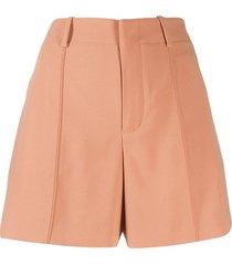 high-waisted shorts orange