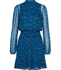 sig logo print dress dresses shirt dresses blauw michael kors