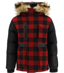 dsquared2 two-material parka with removable interior