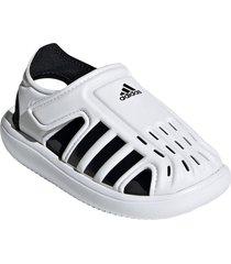 adidas water sandal, size 6 m - white