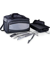 oniva by picnic time buccaneer portable charcoal grill & cooler tote