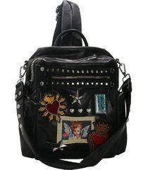 mochila negra leblu sagrado corazón