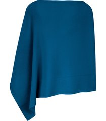 poncho van peter hahn cashmere blauw