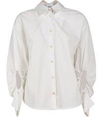 elastic cut-out sleeve detail shirt