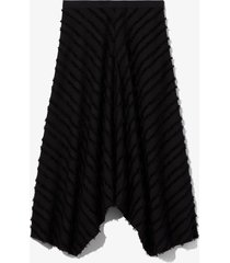 proenza schouler white label fringe fil coupé skirt 00200 black 4