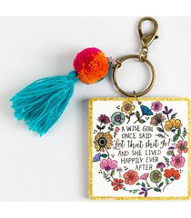 natural life® a wise girl key chain - multi