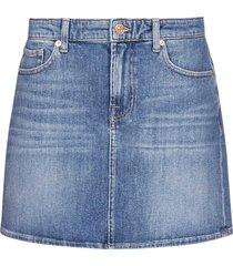 7 for all mankind stretch denim miniskirt