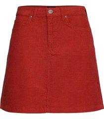 a line zip skirt kort kjol röd lee jeans