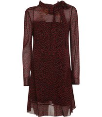 red valentino all over print dress