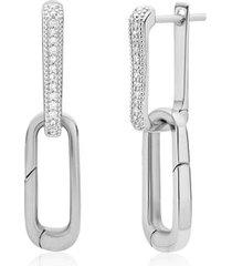 sterling silver alta capture charm diamond earrings diamond