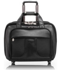 "mcklein chicago, 15"" patented detachable -wheeled laptop briefcase"