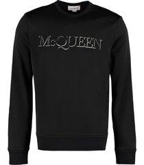 alexander mcqueen embroidered logo crew-neck sweatshirt