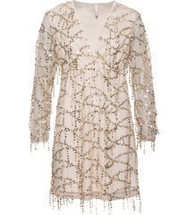 abito elegante con paillettes (beige) - bodyflirt boutique