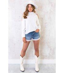 cold shoulder blouse ecru