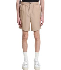 ami alexandre mattiussi shorts in beige wool