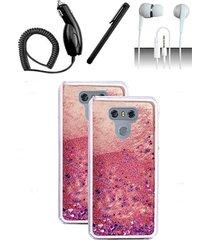 lg g6 pink bling glitter motion case cover