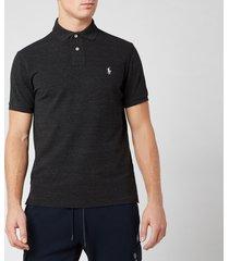 polo ralph lauren men's custom slim fit polo shirt - black marl heather - xxl