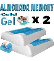 setx2 almohadas gel frío sensor memory foam indeformable - con funda