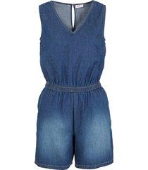 tuta corta in jeans elasticizzato (blu) - john baner jeanswear