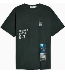 mens khaki placement print t-shirt