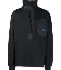 damir doma patch pocket sweater - black