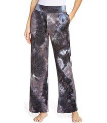 women's socialite tie dye lounge sweatpants, size x-large - black