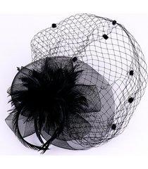 europa y los estados unidos de malla sombrero sombrero mujer sombrero pluma